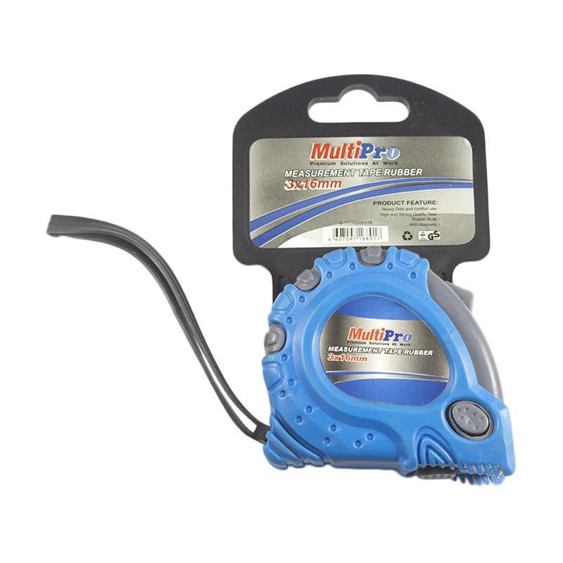 Multipro 11110200316 Measurement Tape Rubber Meteran [3 m x 16 mm]
