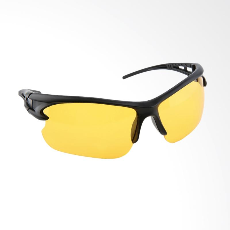 QCF Kacamata Anti Silau Riding Glasses Sport Edition Kacamata Free Pouch - Kuning