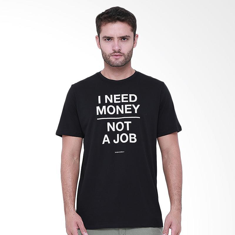 Tendencies Need Money T-Shirt Pria - Hitam