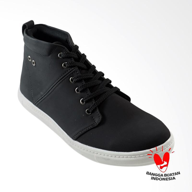 Dane And Dine Zambi Sepatu Pria - Black