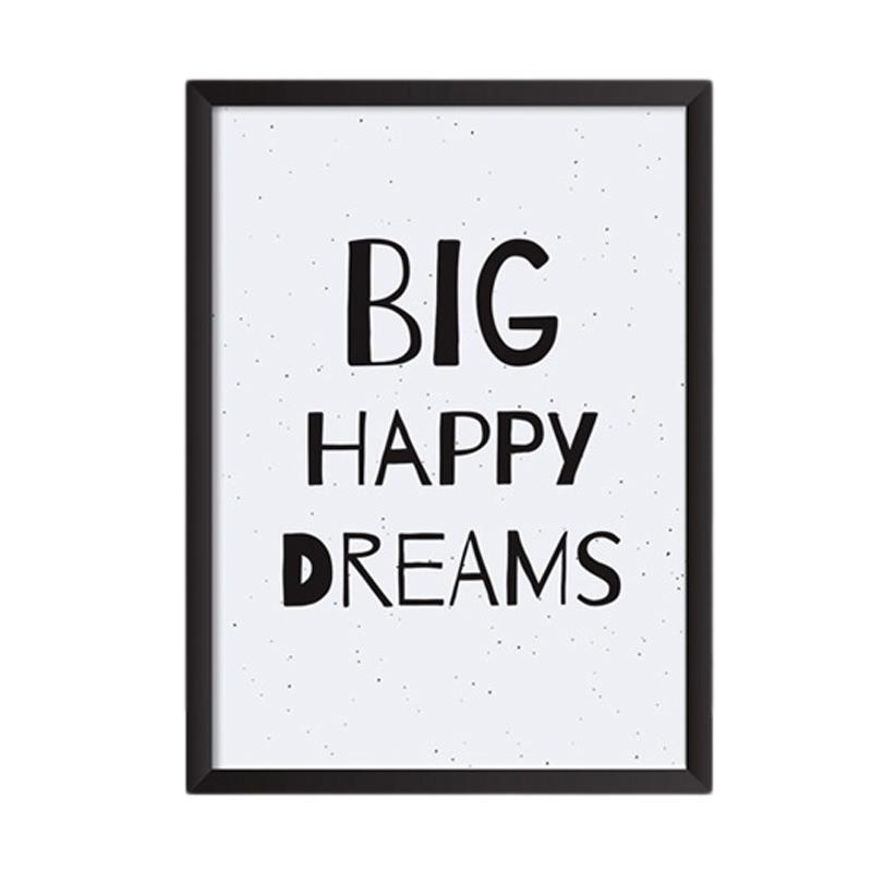 Cadrehome Big Happy Dreams A4 Dekorasi Dinding