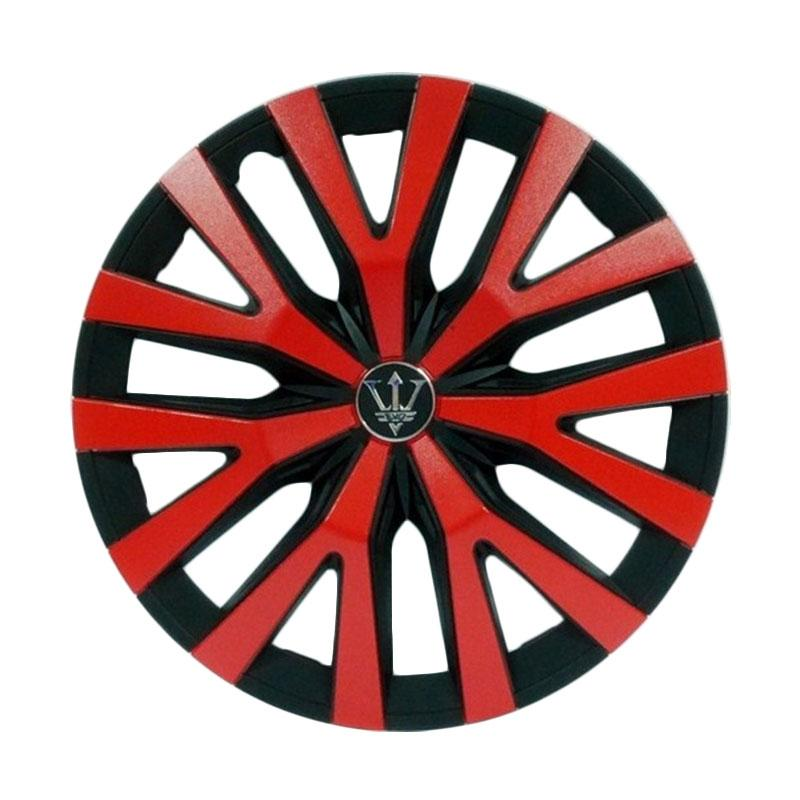 SIV Sport Wheel Cover Evolution Design WD3-1RD-14 Inch Dop Roda Mobil - Black Red