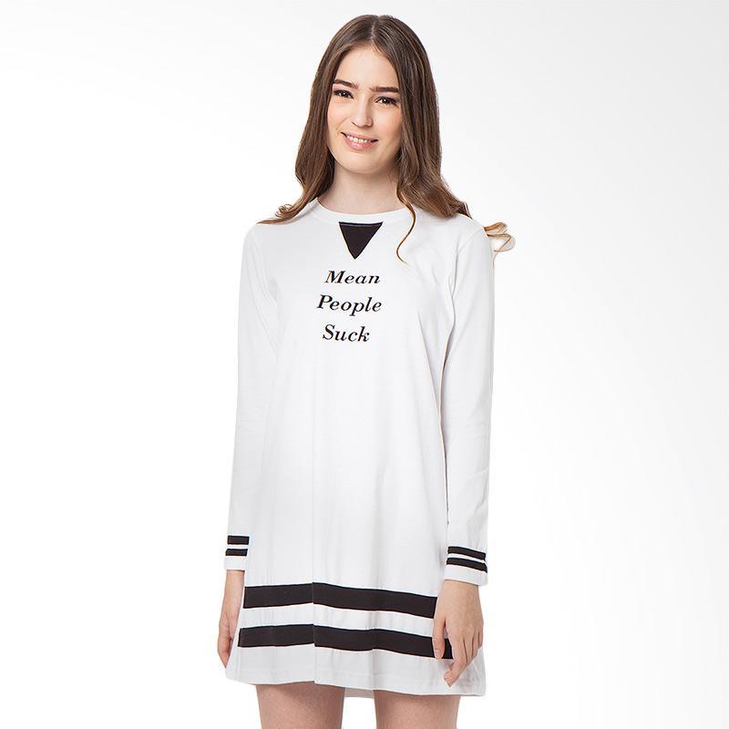 Boontie Suck Dress Atasan Wanita - Putih