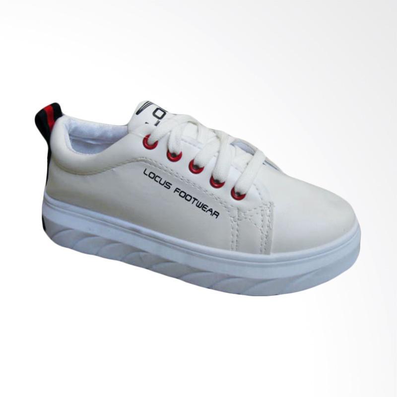 Locus KDX 5683 Sepatu Sneakers Wanita - White Red