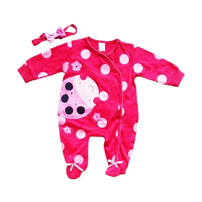 harga Next Motif Ladybug Bordir Sleepsuit Baby dan Headband Pita - Merah Blibli.com