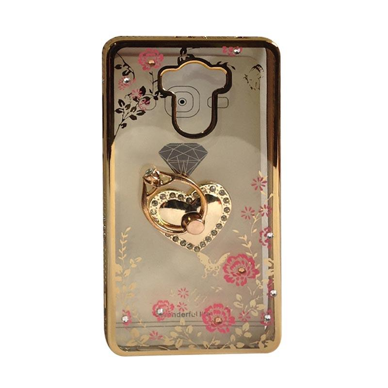 harga OEM Diamond Motif Love Softcase Casing for Xiaomi Redmi 4 Prime ??? Gold