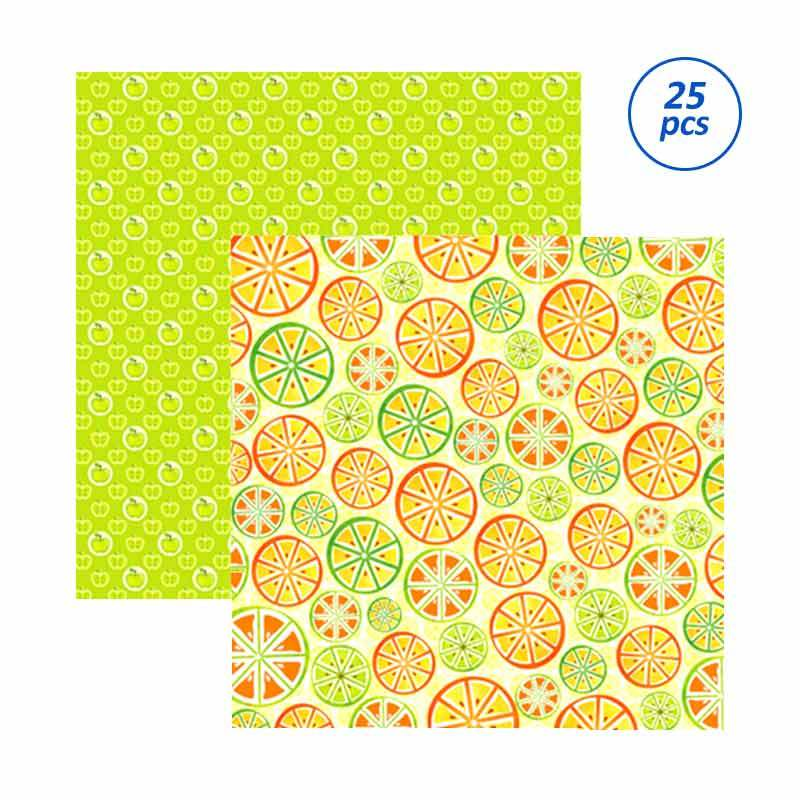 SP126 Scrapbook Paper - Fruits [ 25 sheets/bungkus, 10 bungkus/package ]