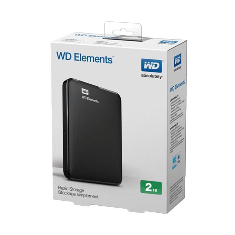 Western Digital Elements Basic Hardisk Eksternal - Hitam [2 TB/ USB 3.0]