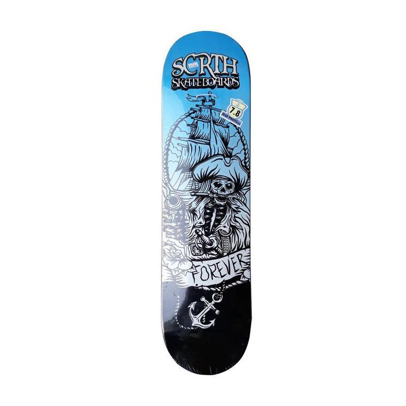 harga Scratch Skateboard Deck Pirates Edition Peralatan Skate - Blue Blibli.com