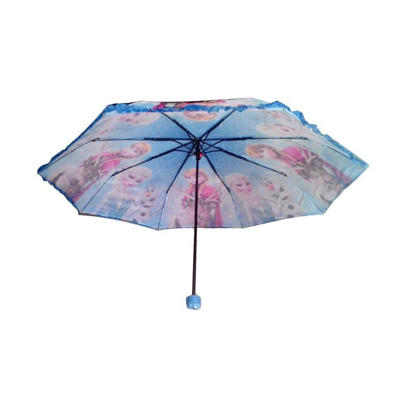 Tempat Jual Rainy Collections Karakter Frozen Renda Payung Lipat 3 - Biru Lengkap