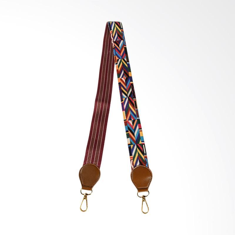 Hanan Project Strap Shoulder Bag Tali Tas Selempang - Rainbow Brown