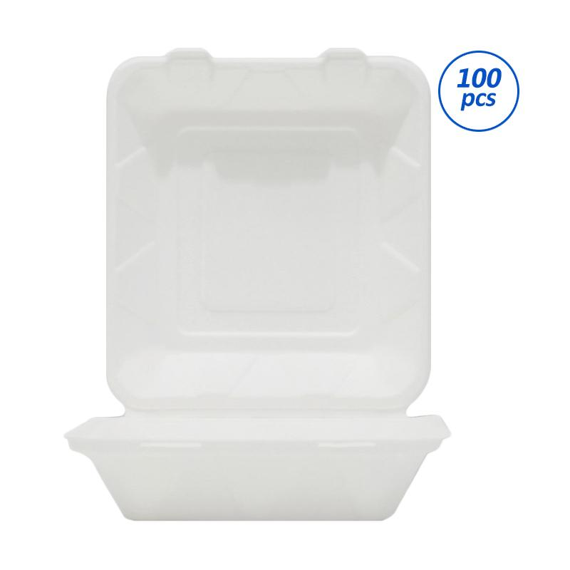Avani Bagasse Food Box 9 inch 3 compartment [100 Pieces-Pack]