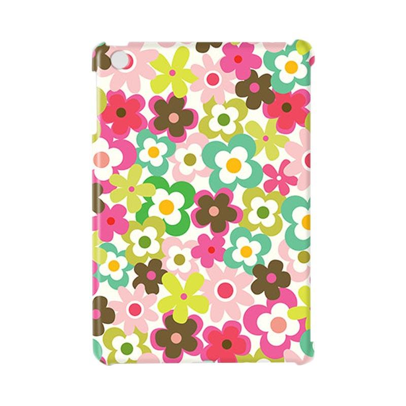 Premiumcaseid Cute Colorful Flower Hardcase Casing for iPad Mini