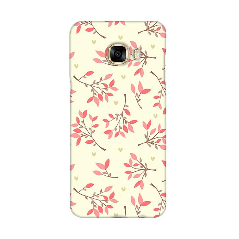 Premiumcaseid Cute Floral Seamless Shabby Hardcase Casing for Samsung Galaxy C7 Pro