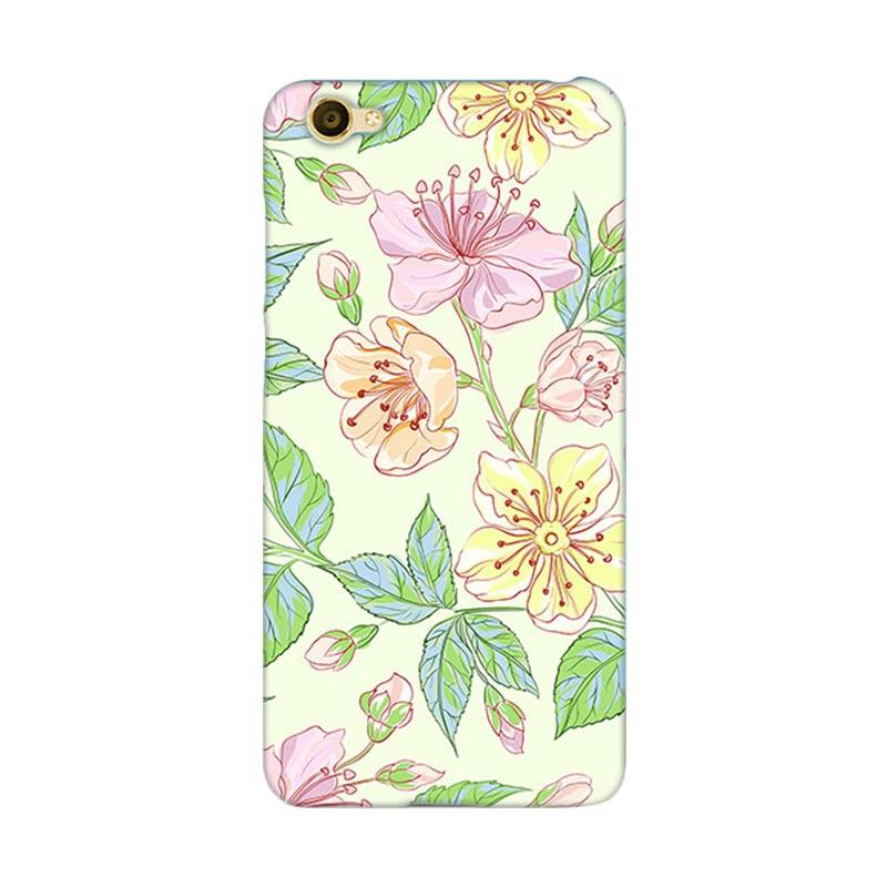 Premiumcaseid Beautiful Flower Wallpaper Hardcase Casing for Vivo Y55