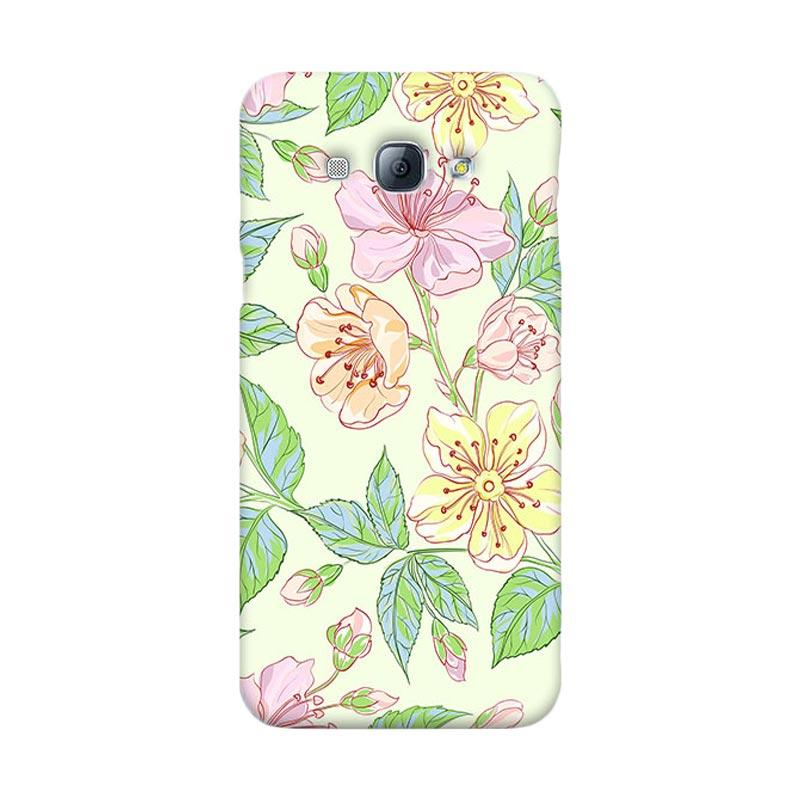 Premiumcaseid Beautiful Flower Wallpaper Cover Hardcase Casing for Samsung Galaxy A8