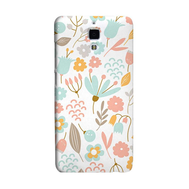 Premiumcaseid Cute Pastel Shabby Chic Floral Hardcase Casing for Xiaomi Mi 4