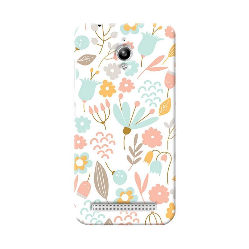 Premiumcaseid Cute Pastel Shabby Chic Floral Hardcase Casing for Asus Zenfone Go