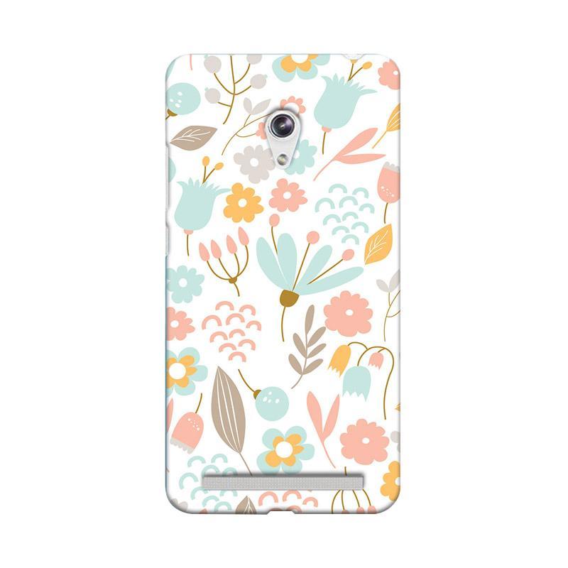 Premiumcaseid Cute Pastel Shabby Chic Floral Hardcase Casing for Asus Zenfone 6