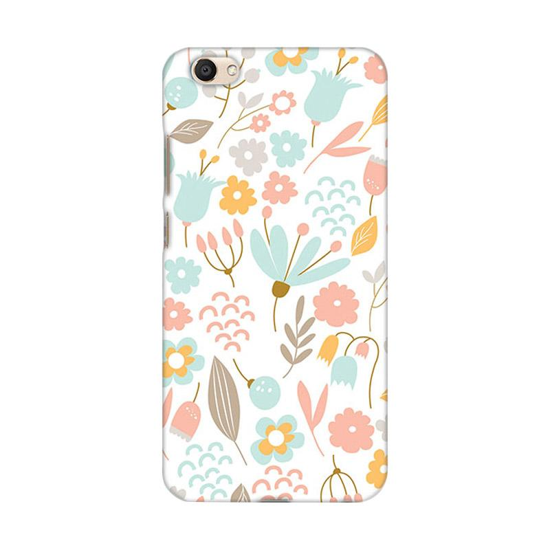 Premiumcaseid Cute Pastel Shabby Chic Floral Hardcase Casing for Vivo V5 Plus