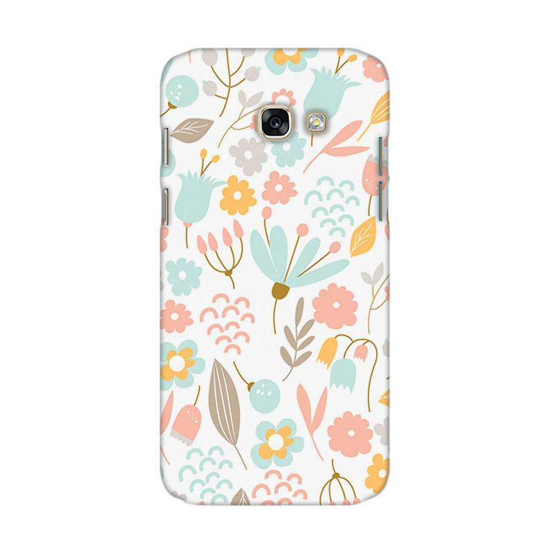 Premiumcaseid Cute Pastel Shabby Chic Floral Hardcase Casing for Samsung Galaxy A7 2017
