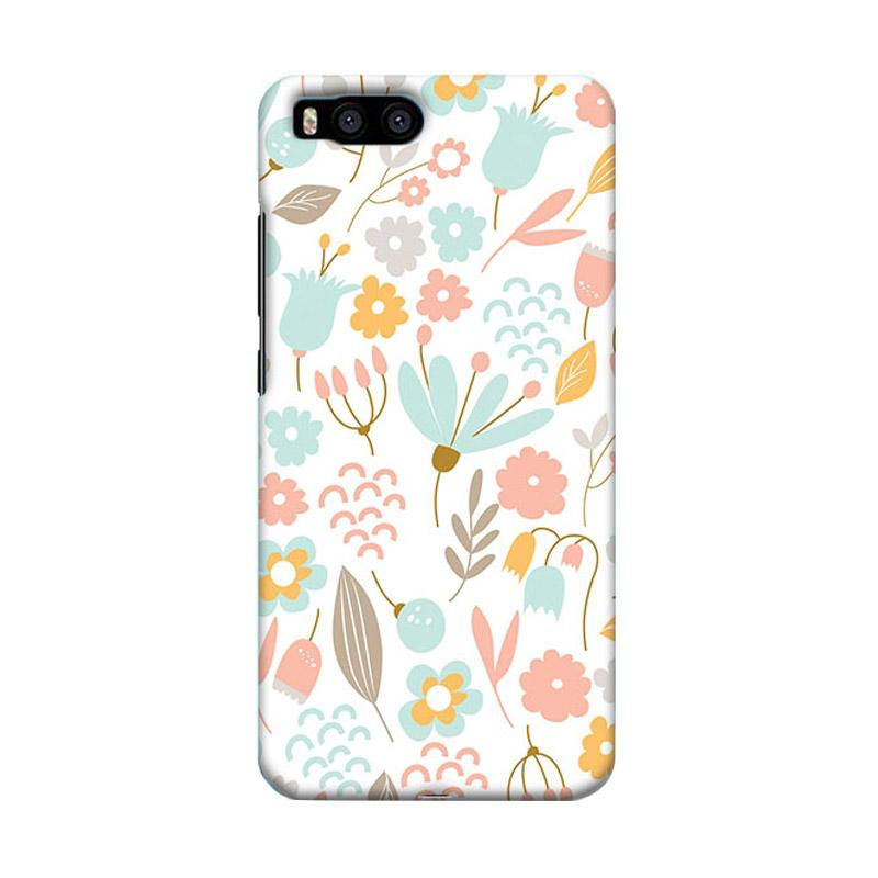 Premiumcaseid Cute Pastel Shabby Chic Floral Cover Hardcase Casing for Xiaomi Mi 6