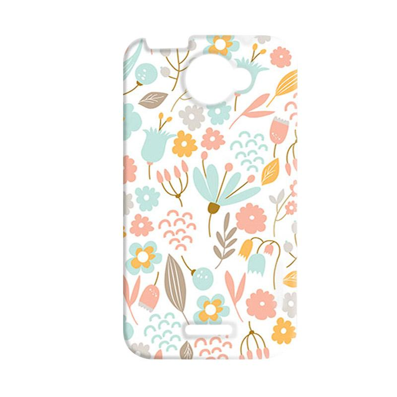 Premiumcaseid Cute Pastel Shabby Chic Floral Hardcase Casing for HTC One X