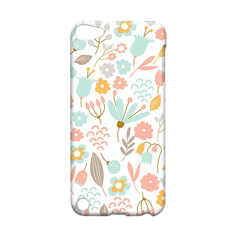 Premiumcaseid Cute Pastel Shabby Chic Floral Hardcase Casing for iPod 5