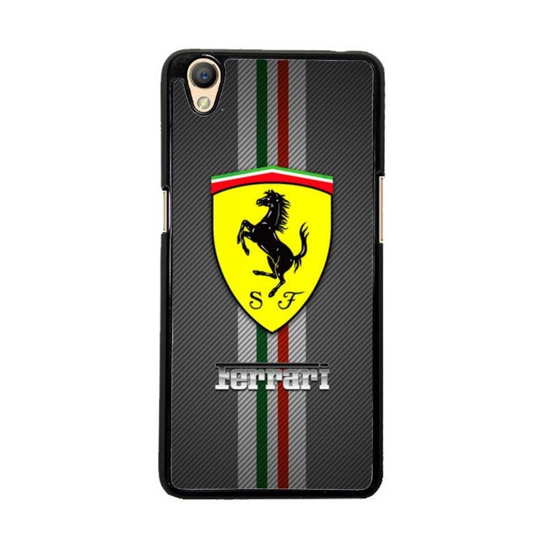 Flazzstore Texture Ferrari Black O0625 Custom Casing for Oppo Neo 9 or A37