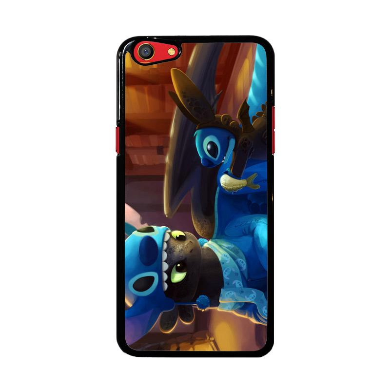 Flazzstore Toothless And Stitch Parody Z0364 Custom Casing for Oppo F3