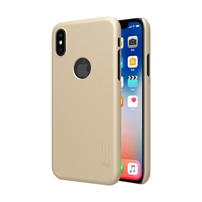 Nillkin Frosted Shield Casing For Apple Iphone X Gold