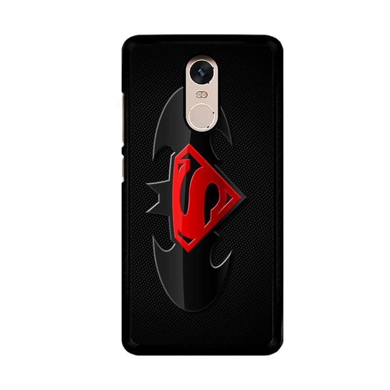 Flazzstore Batman and Superman Logo F0154 Custom Casing for Xiaomi Redmi Note 4 or Note 4X Snapdragon Mediatek
