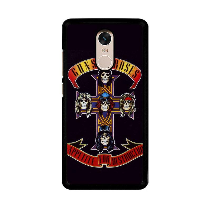 Flazzstore Rock Bands Guns N Roses F0216 Custom Casing for Xiaomi Redmi Note 4 or Note 4X Snapdragon Mediatek