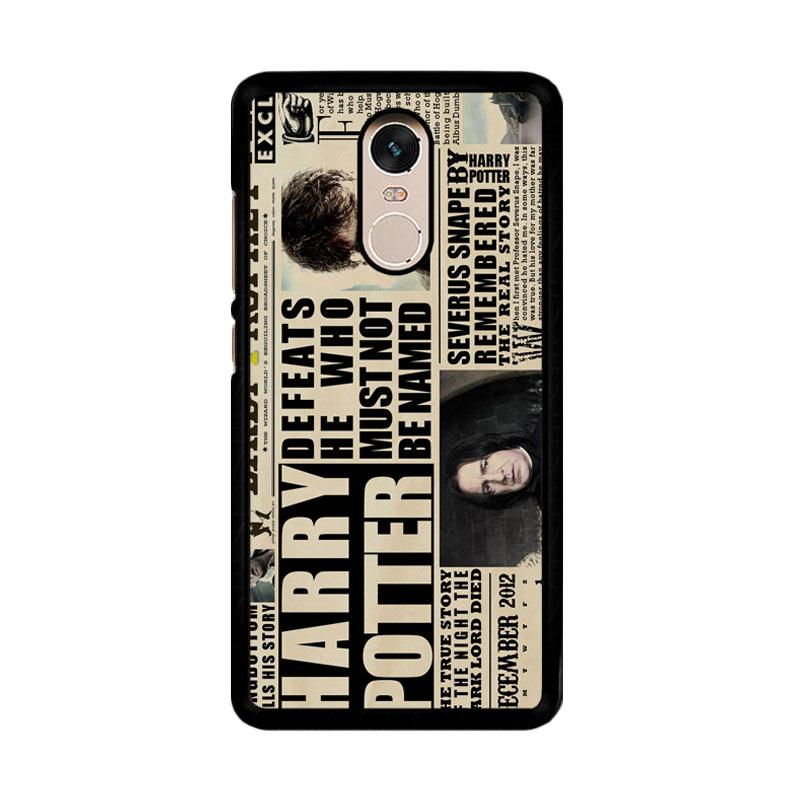 Flazzstore December2012 Harry Potter Daily Prophet F0163 Custom Casing for Xiaomi Redmi Note 4 or Note 4X Snapdragon Mediatek