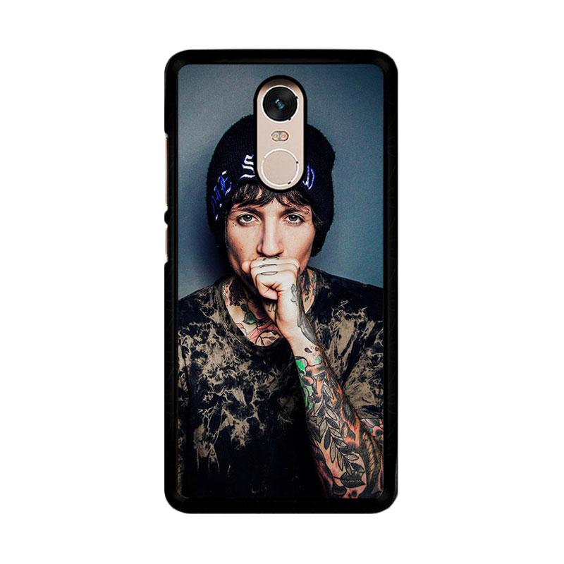 Flazzstore Oliver Sykes Bring Me The Horizon And Signature F0543 Custom Casing for Xiaomi Redmi Note 4 or Note 4X Snapdragon Mediatek