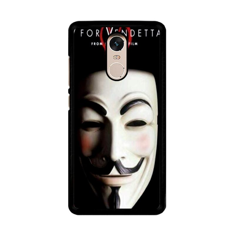Flazzstore Guy Fawkes Mask V For Vendetta Z0192 Custom Casing for Xiaomi Redmi Note 4 or Note 4X Snapdragon Mediatek