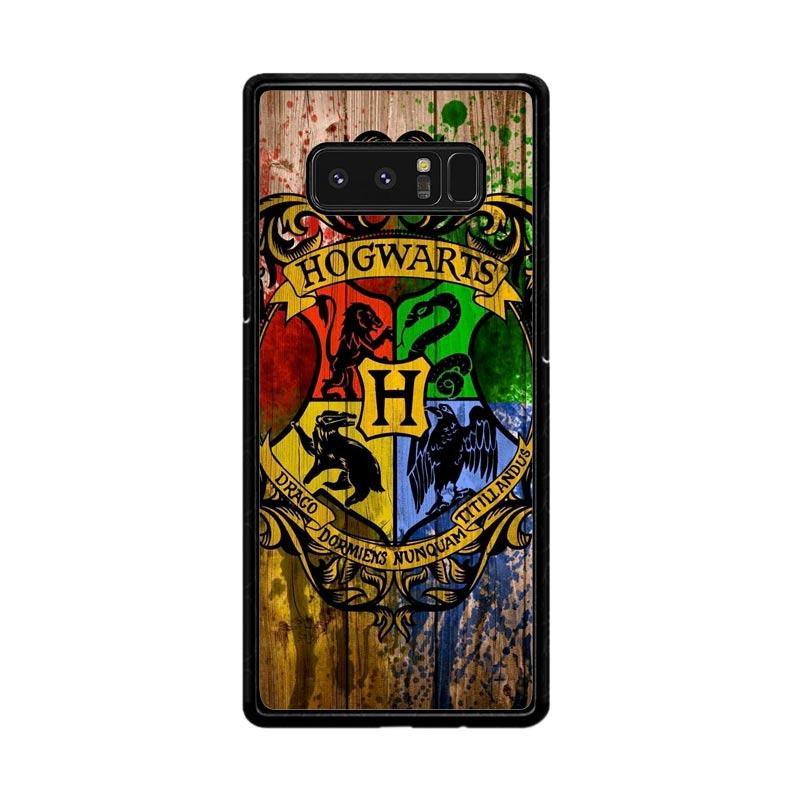 Flazzstore Harry Potter Hogwarts Logo Wood Z0295 Custom Casing for Samsung Galaxy Note8