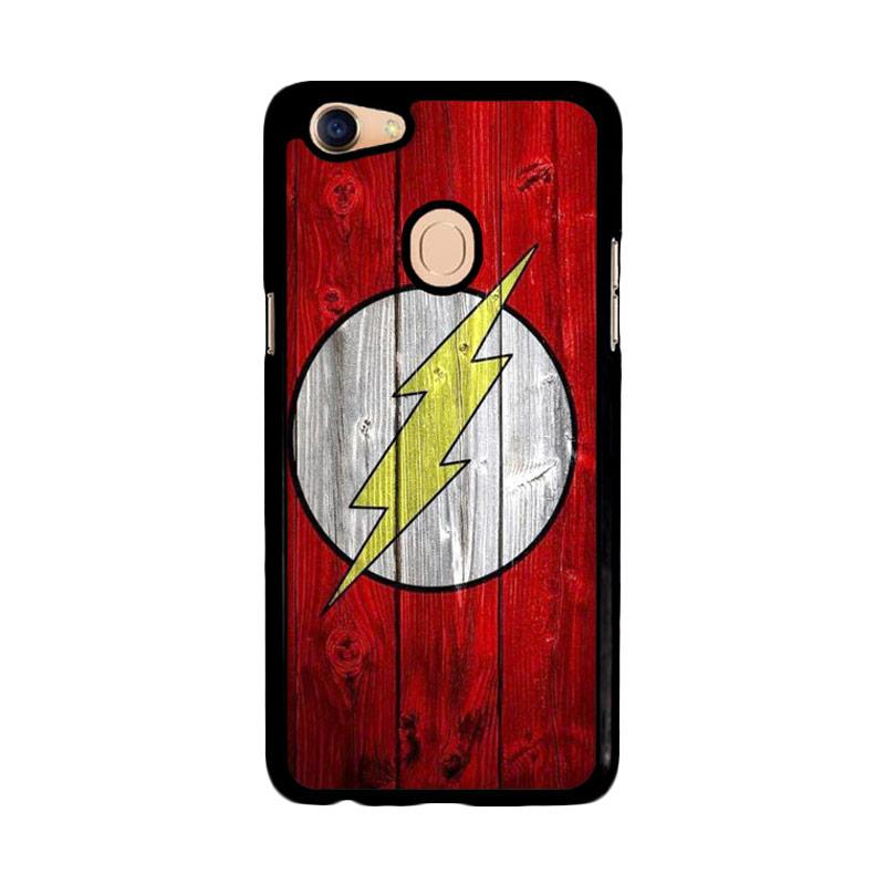 Flazzstore Flash Superhero Logo On Wood Z1692 Custom Casing for Oppo F5