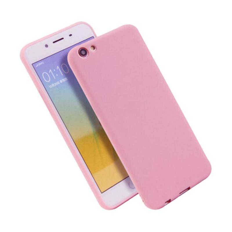 Lize Design Case Slim Anti Glare Silikon Casing for Oppo F3 - Pink
