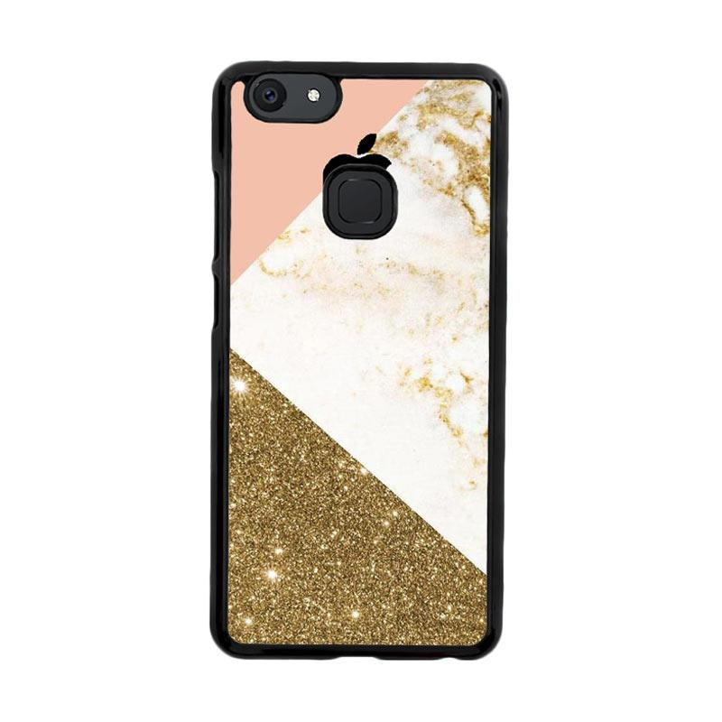 Flazzstore Pink And Gold Marble Apple Logo Z4824 Custom Casing for Vivo V7 Plus