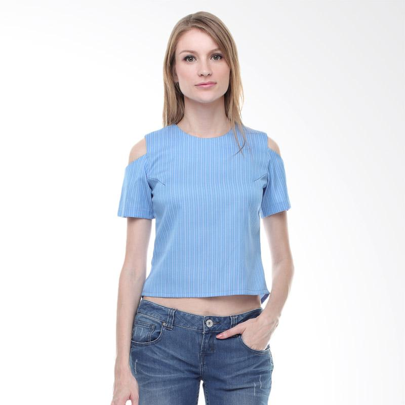 Halcyon Skye Top Atasan Wanita - Mix Blue
