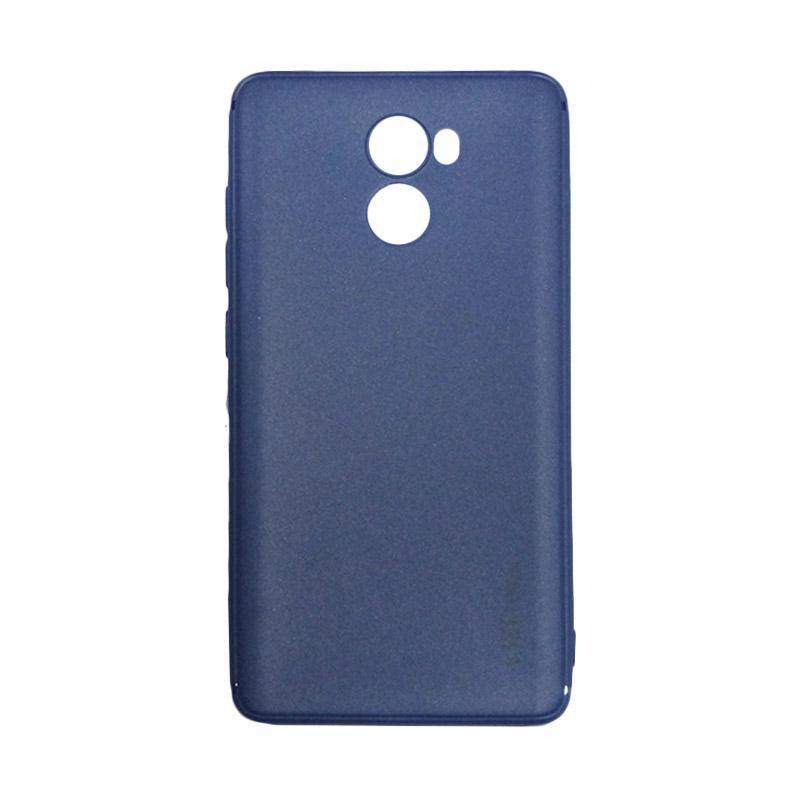 Lize Design Case Slim Anti Glare Silikon Casing for Xiaomi Redmi 4 - Biru Tua