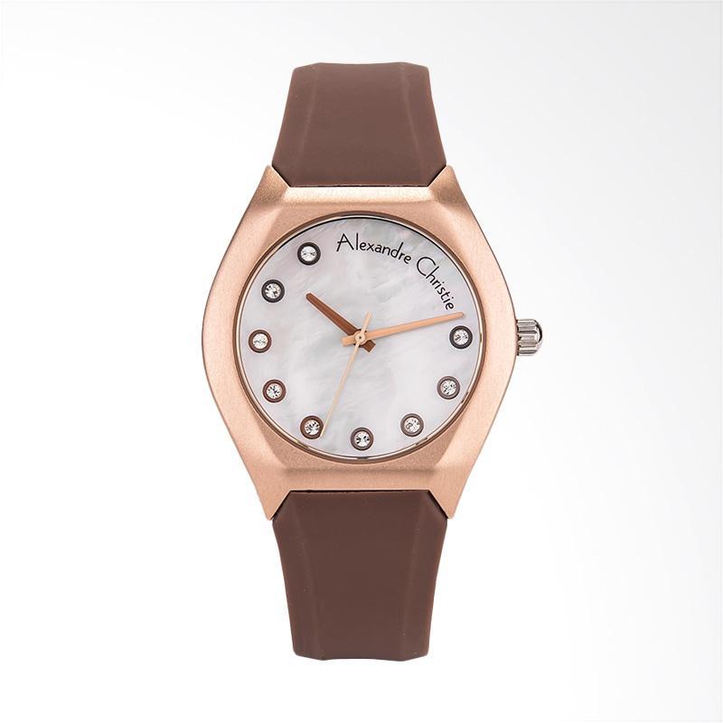 Alexandre Christie Classic AC 2702 LH RRGMSBO Jam Tangan Wanita - Brown Rose Gold