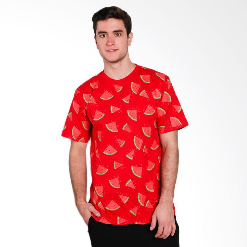 Hypestore Watermelon Full Print T-Shirt Pria - Red [3017-8741]