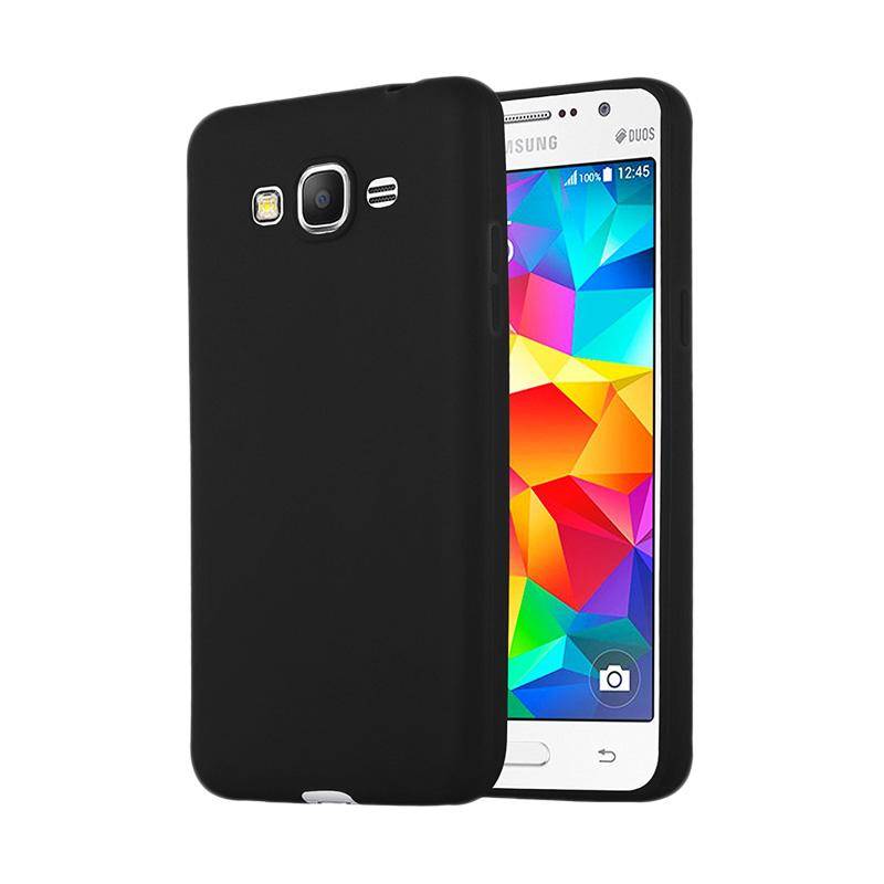 Lize Design Case Slim Anti Glare Silikon Casing for Samsung Galaxy J2 Prime - Black