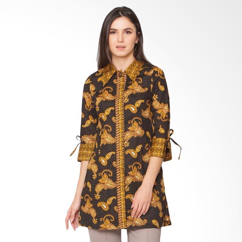 A&D MS 806 Fashion Tunic Batik Print  Wanita - Black