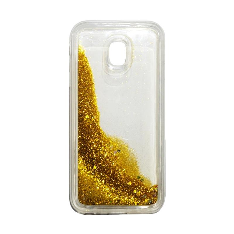 QCF Softcase Water Glitter Aquarium Silicone Casing for Samsung Galaxy J3 Pro 2017 / J330 Case Blink Blink - Gold