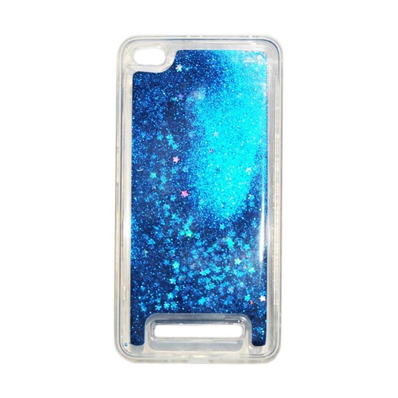 QCF Softcase Water Glitter Aquarium Silicone Casing for Xiaomi Redmi 4A Case Blink Blink - Biru