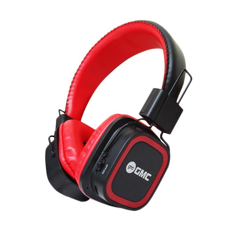 GMC 898B Headset Bluetooth Support Handsfree - Merah