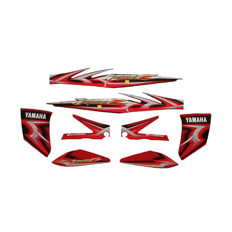 harga Idola Striping Motor for Jupiter Z CW 2006 - Merah Hitam Blibli.com